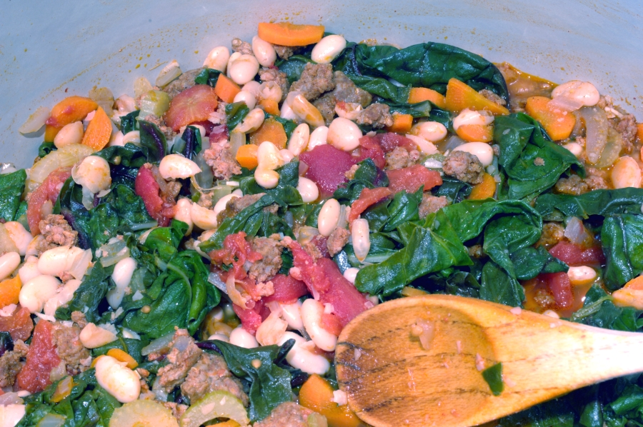 ... of the Day: Swiss Chard, White Bean and Chorizo Stew   One Is Hungry