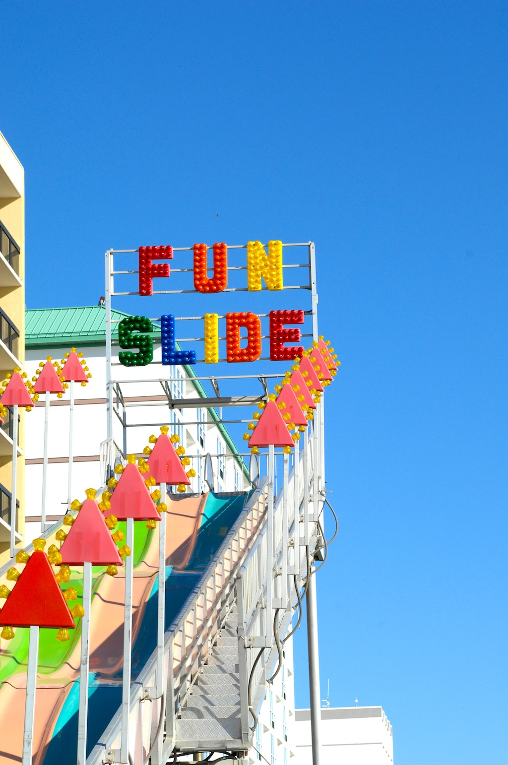 Fun Slide, Virginia Beach Boardwalk | via One is Hungry