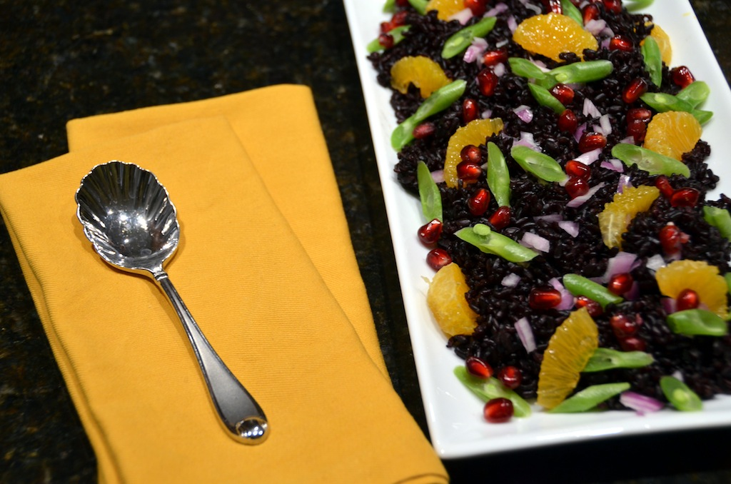 Black Rice Jewel Box Salad via www.oneishungry.com