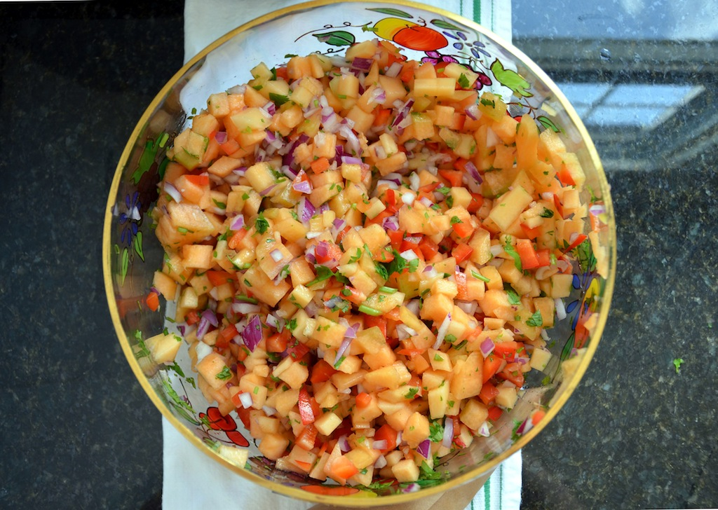 melon salsa at www.oneishungry.com