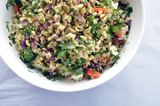 Happy Herbaceous Grain Salad via One is Hungry